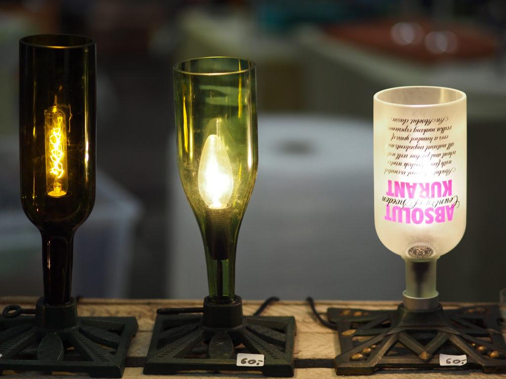 Phonk - Handgemacht Kreativmarkt Heilbronn (Flaschen-Lampen)