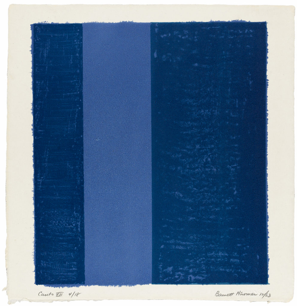 The Great Graphic Boom – Barnett Newman, Canto VII (Gesang VII), 1963