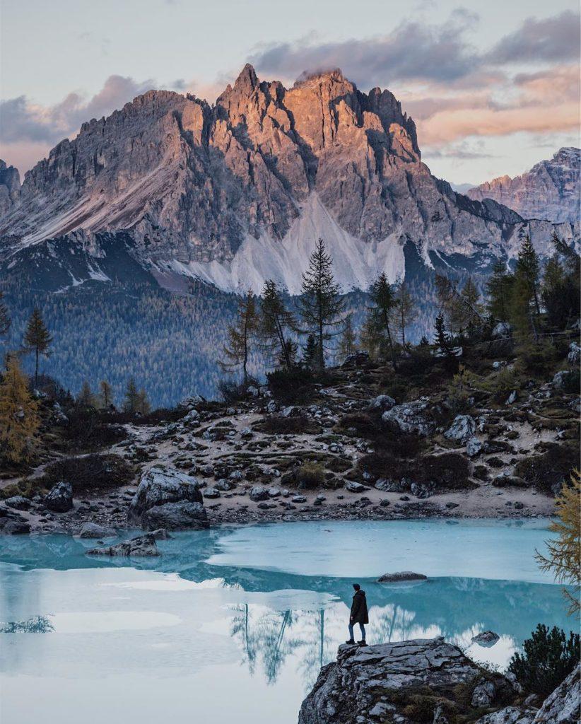 Niklas Kiesling - imperfec1ion on Instagram (Lago di Sorapis, Dolomites)