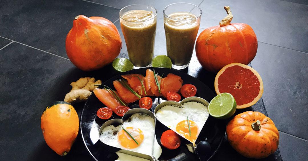 Bunter Protein-Smoothie - Frühstück