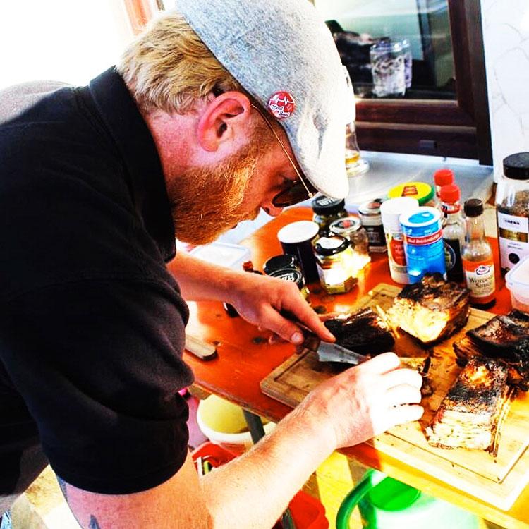 Fleischsommelier Dominik Hohl - Vorbereitung