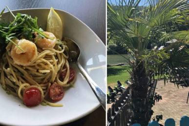 Spaghetti mit White Tiger-Garnelen aus dem Uferglück