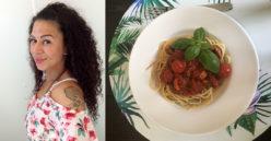 Yummy - Charmaine Frey - Spaghetti mit pikanter Tomatensoße (Titel)