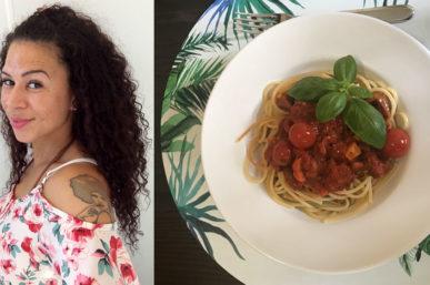 Charmaines Rezept: Spaghetti mit pikanter Tomatensoße