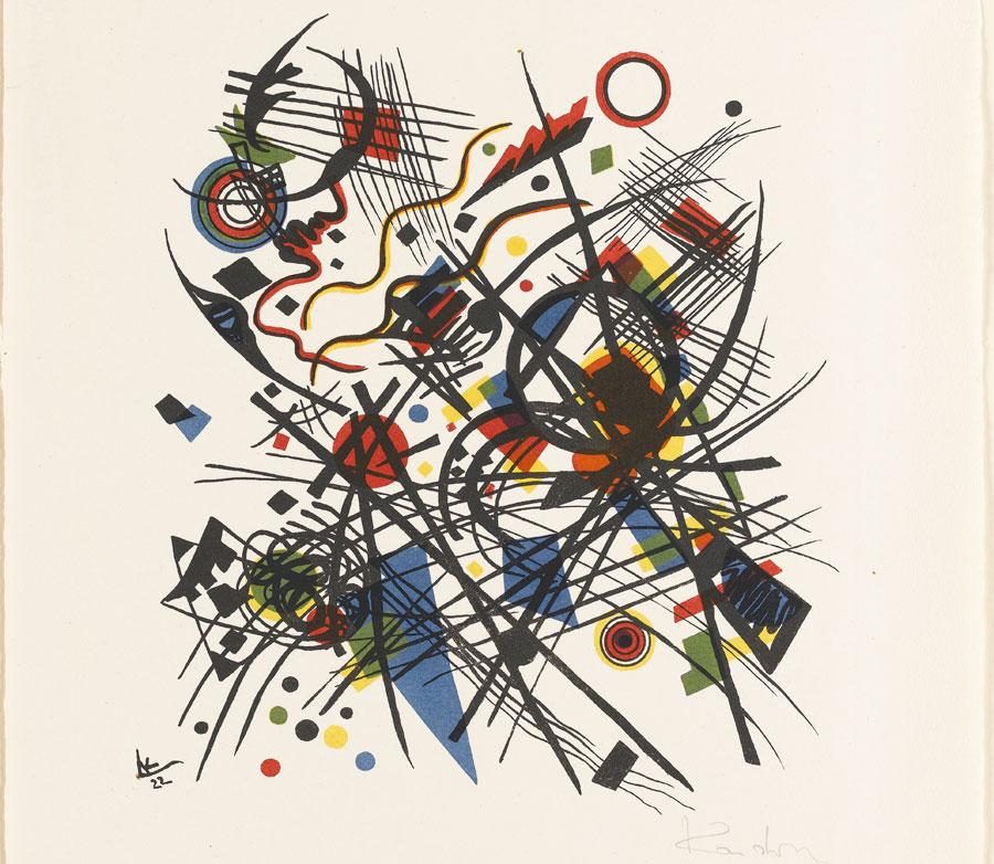 Drucksache Bauhaus - Staatsgalerie Stuttgart 2020 (Wassily Kandinsky - Komposition)