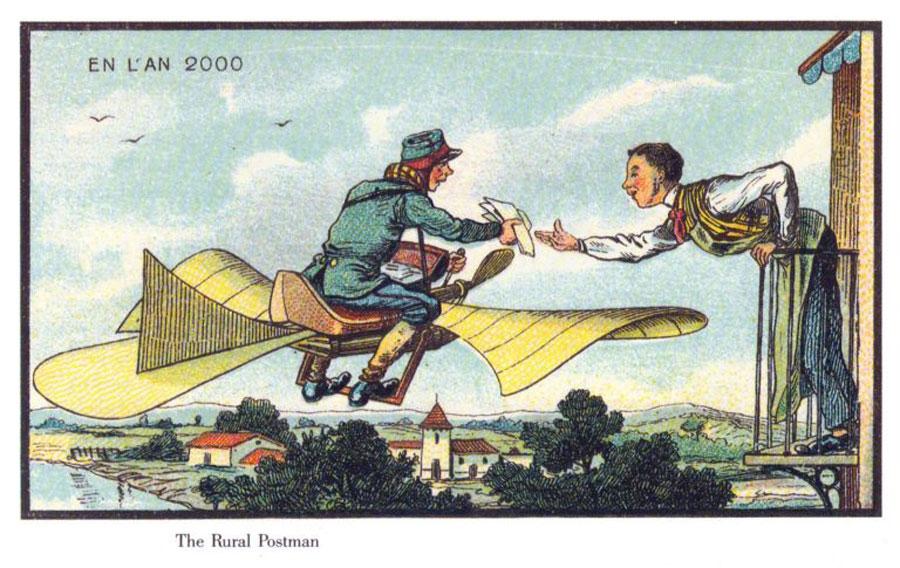 Zukunftsvisionen auf dem Prüfstand - Fliegender Briefträger