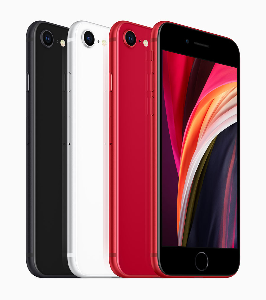 Apple iPhone SE 2020 (Black, White & Red)