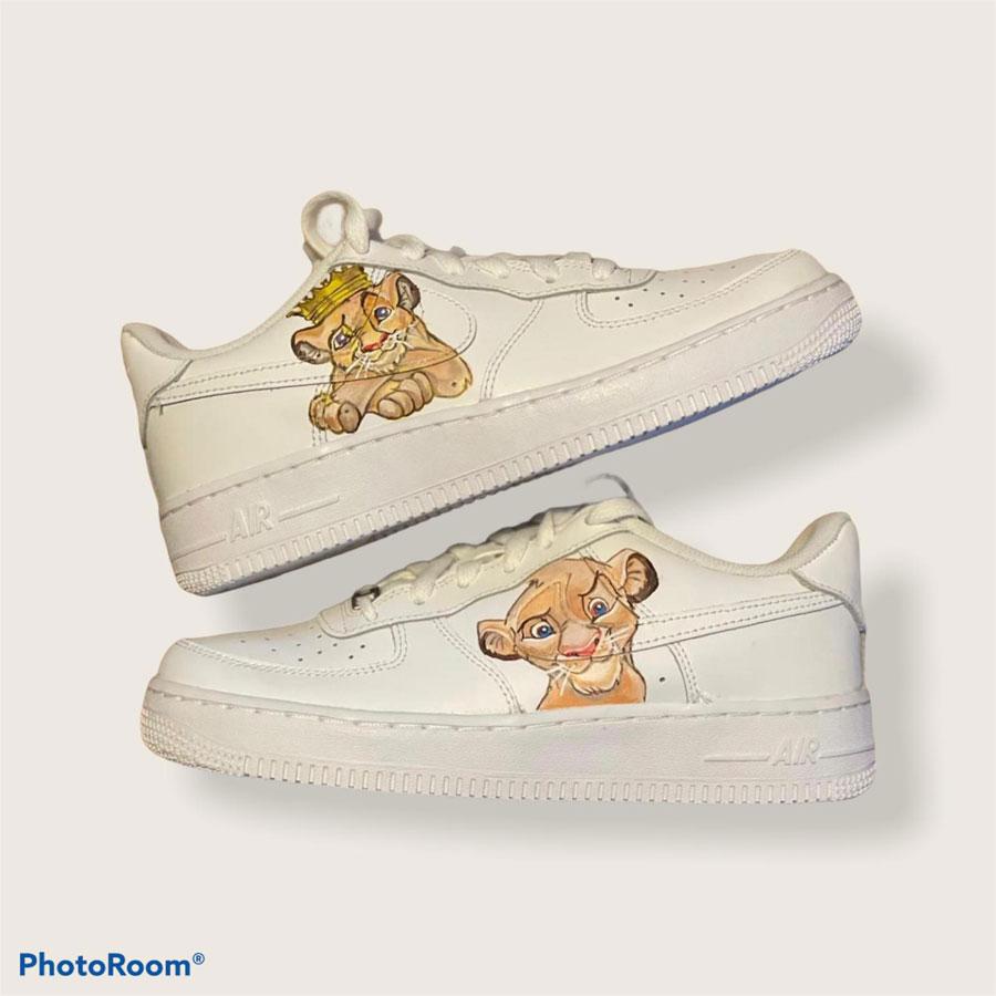 Customized Sneaker Heilbronn - Nike Air Force 1 Simba